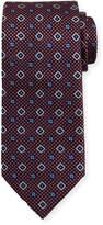 Brioni Textured Medallion-Print Silk Tie