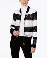 INC International Concepts Petite Lace Bomber Jacket, Only at Macy's