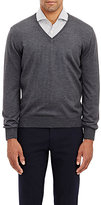 Barneys New York Men's Fine-Gauge Knit Sweater-DARK GREY