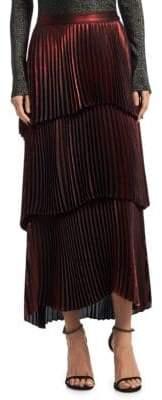 A.L.C. (エーエルシー) - A.L.C. Harley Tiered Metallic Maxi Skirt