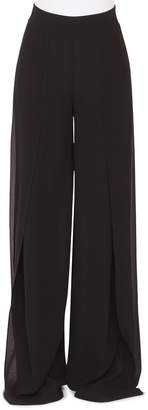 Akris Fellia Wide-Leg Silk Georgette Pants