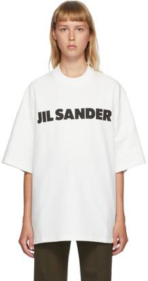Jil Sander SSENSE Exclusive White Boxy Logo T-Shirt