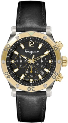 Salvatore Ferragamo Time Sport Two-Tone Stainless Steel Chronograph Watch