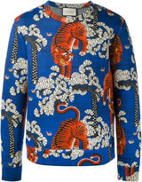 Gucci tiger print sweatshirt - men - Cotton - S