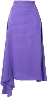 MSGM Houndstooth Jacquard Asymmetric Skirt