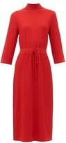 A.P.C. Vivianne Drawstring-waist Merino Wool Dress - Womens - Red
