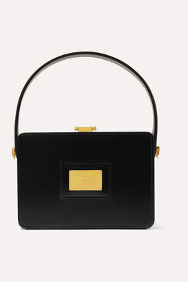 Tom Ford Box Small Leather Tote - Black