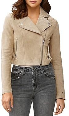 Soia & Kyo Cropped Suede Elaine Moto Jacket