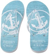 Lillian Rose Bride's Crew Flip Flops