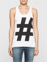 Calvin Klein Hashtag Regular Fit Tank Top