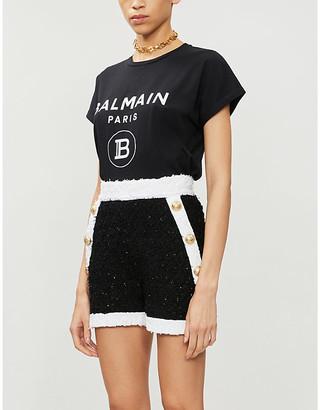 Balmain Logo-print cotton-jersey T-shirt, Size: S