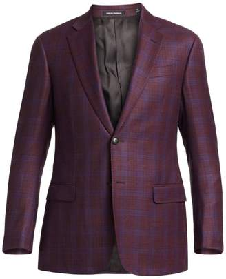 Emporio Armani Two-Button Plaid Sportcoat