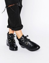 Asos Andrea Leather Lace Up Boots