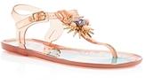 Ivy Kirzhner Jezabelle Jeweled T-Strap Jelly Sandals