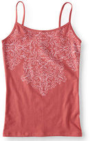 Aeropostale Womens Flourish Basic Cami Orange