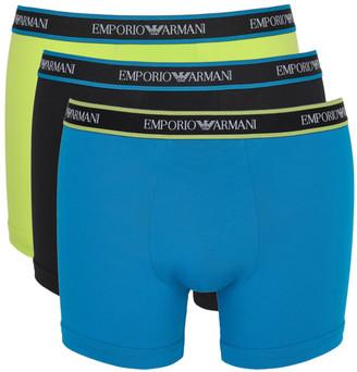 Emporio Armani Logo Band Stretch Cotton Boxer Brief 3-Pack