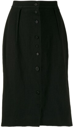 Lanvin Pre Owned 2005s Slim Buttoned Skirt