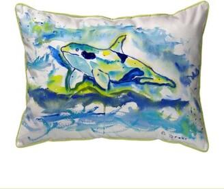 Orca Betsy Drake Interiors Outdoor Lumbar Pillow Betsy Drake Interiors Size: Large