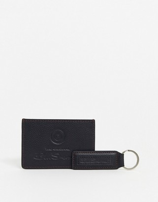 Ben Sherman travis leather wallet and keychain set