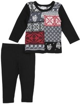 Splendid Baby Girl Jacquard Fair Isle Set
