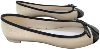Chanel White Rubber Ballet flats