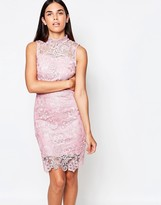 Club L Sleeveless Crochet Dress With Cut Out Back Detail