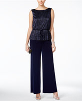 Connected Petite Metallic Jumpsuit