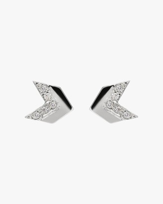 Jac + Jo White Sapphire Arrow Tail Stud Earrings