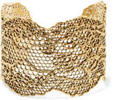 Aurelie Bidermann Lace Gold-plated Cuff - one size