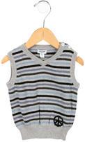 Moschino Boys' Striped V-Neck Sweater