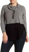 Vince Camuto Funnel Neck Layered Shirt (Plus Size)