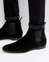 Boss By Hugo Boss Paris Suede Chelsea Boots
