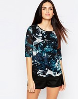 Sugarhill Boutique Evie Top In Icey Print