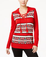 G.H. Bass & Co. Striped Lace-Up Sweater