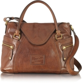 The Bridge Icons Gaucho Medium Marrone Leather Tote w/Shoulder Strap