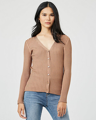 Le Château Rib Knit Button-Front Cardigan