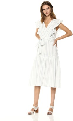 Rebecca Taylor Women's Sleeveless Yarn Dye Stripe Dress