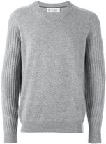 Brunello Cucinelli cashmere ribbed sleeves sweater