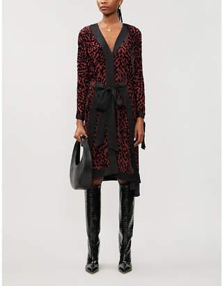 Diane von Furstenberg Pianna leopard-print velvet-jacquard midi dress