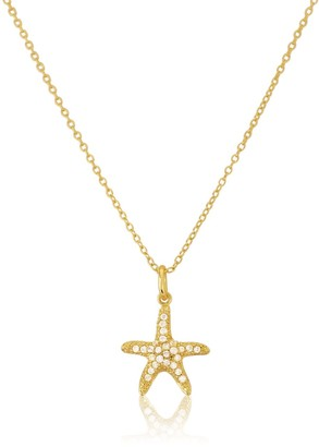 Auree Jewellery Maddalena Yellow Gold Vermeil Starfish & Cubic Zirconia Necklace