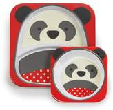 Skip Hop Zoo Melamine Plate and Bowl Set, Pia Panda