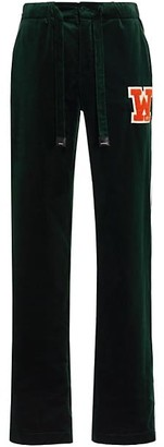 Off-White Velvet Pajama Pants