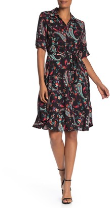 Nanette Lepore Printed Waist Tie Dress