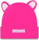 New Era Girls Toddler Pink Cleveland Browns Cozy Cutie Cuffed Knit Hat