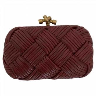 Bottega Veneta Pochette Knot Burgundy Leather Clutch bags