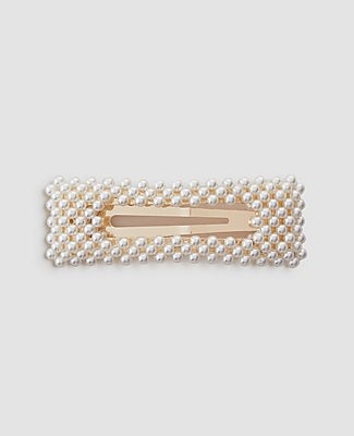Ann Taylor Pearlized Rectangle Barrette