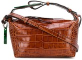 Ganni small embossed crocodile effect tote