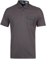 Pretty Green Decima Pocket Grey Short Sleeve Polo Shirt