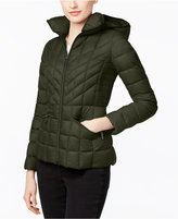 MICHAEL Michael Kors Packable Down Hooded Quilted Puffer Jacket