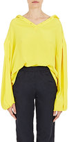 Balenciaga Women's Tie-Neck Blouse-YELLOW